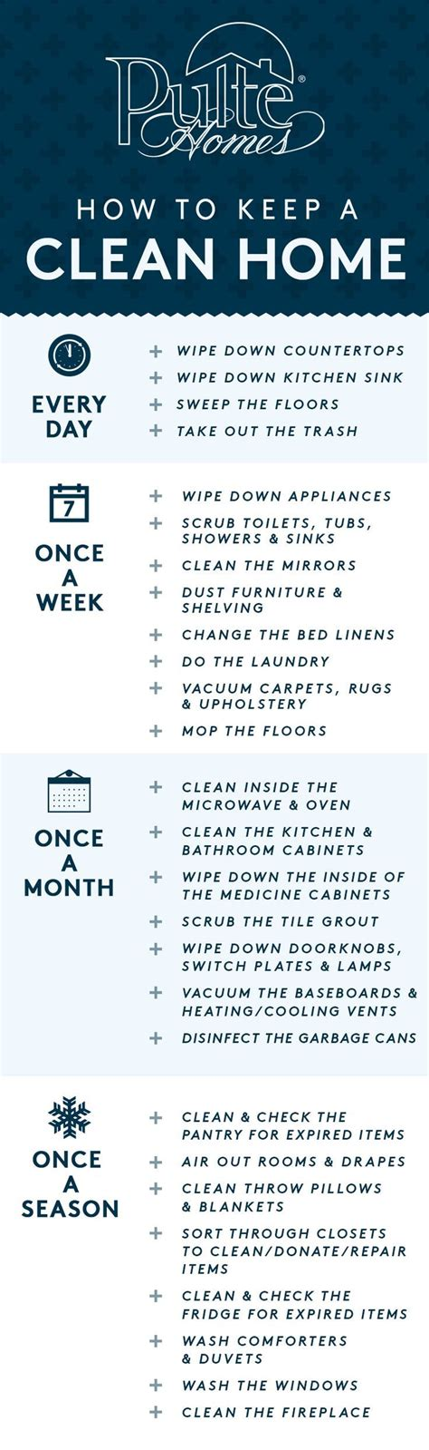7 Tips To Keep Your House Sparkling Clean by 17 Best Ideas About Schedule On Working