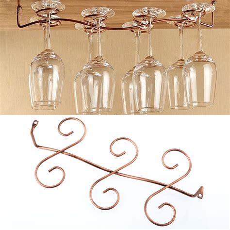 under cabinet hanging shelf 6 wine glass rack stemware hanging under cabinet holder