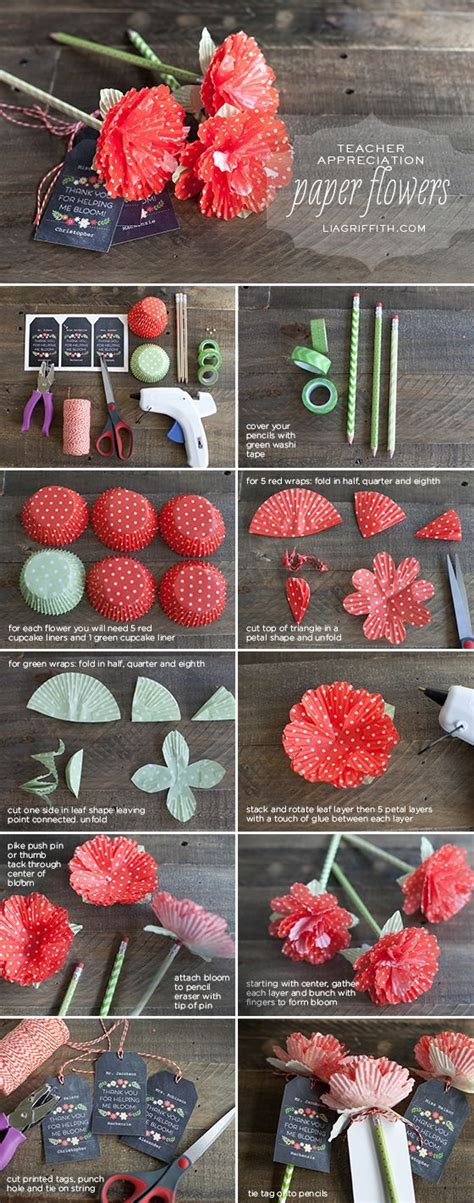 Paper Craft Ideas For Weddings - diy paper flowers from cupcake cups flowers and