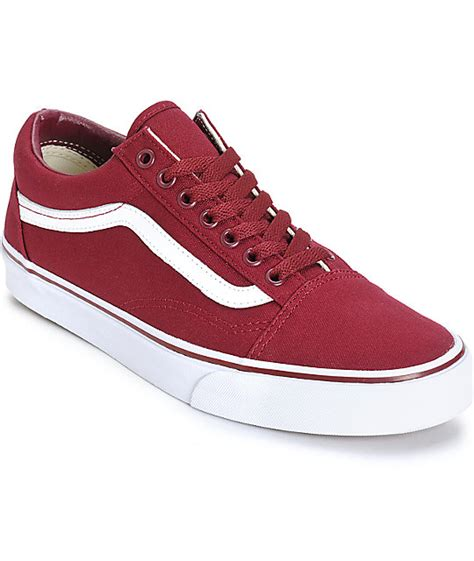 maroon color vans vans skool skate shoes at zumiez pdp