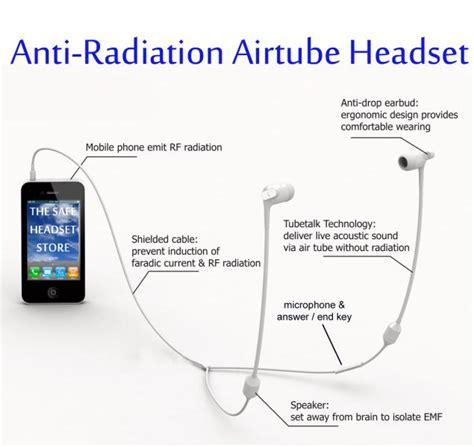 fc anti radiation stereo airtube headset mm  iphone white