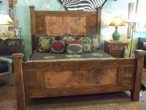 cedar stuff com rustic log furniture pinned with rustic bed copper wood bed custom sizes available