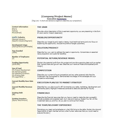 example of good executive summary letter of recommendation