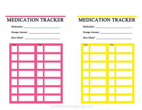 printable medication record