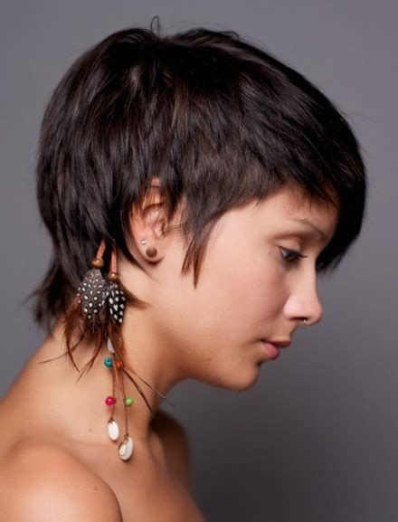 very short feathered hair cuts straight cropped hairstyles very short haircuts for women
