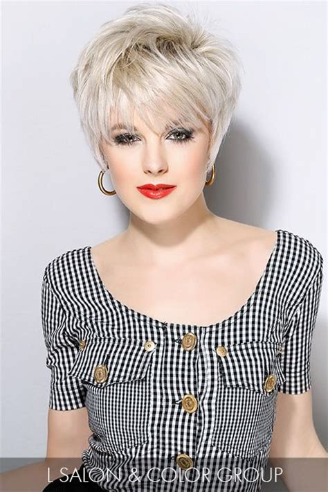very short ladies hair with weight on crown add a little rock n roll vibe to your short hairstyle