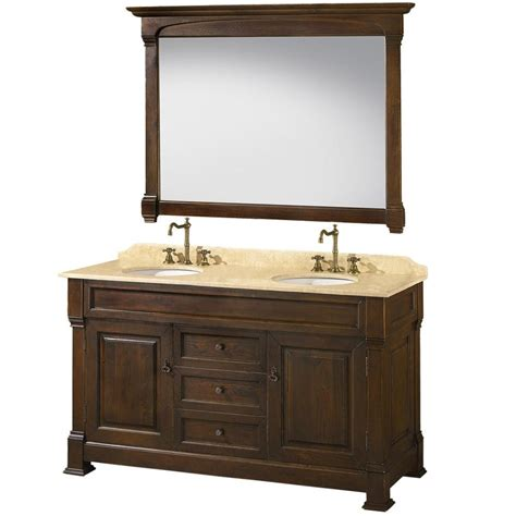 62 double bathroom vanity traditional 62 inch brown double bathroom vanity
