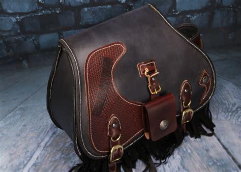Handmade Leather Motorcycle Saddlebags - custom handmade harley leather saddlebags 1 pairs makkashop