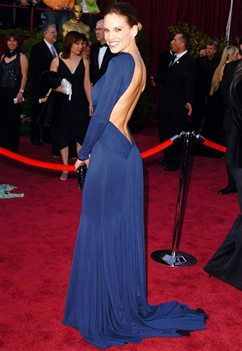 Oscars Carpet Hilary Swank by Hilary Swank 2005 Best Oscar Gowns Through The Years