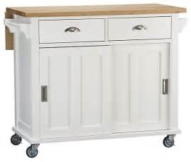 White Kitchen Island Cart Belmont White Kitchen Island Traditional Kitchen Islands And Kitchen Carts By Crate Barrel