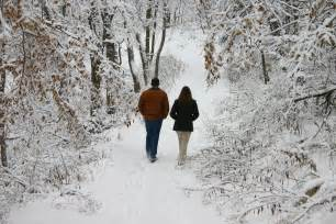 walking in a winter photo 70271 a walk through snowy woods america s byways