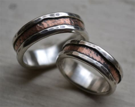 Eheringe Rustikal by The Most Beautiful Wedding Rings Copper Wedding Ring Set