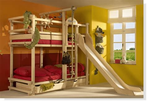 kids bunk beds with slide play bunk beds for large families from woodland kidsomania