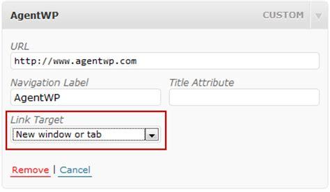 membuat link open new tab di php cara membuat link custom menu di wordpress agar new tab or