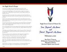 eagle court of honor program template 1000 images about eagle scout on eagle scout