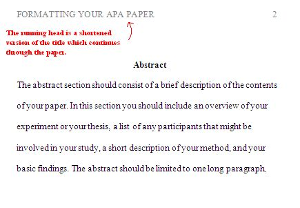 thesis abstract format apa apa formatting for headings and subheadings