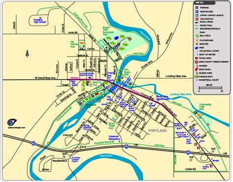 Portland Area Map by Map Of Parks Trails And Places In Portland Michigan