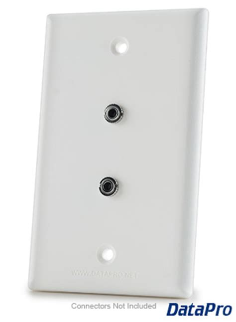 mm dual stereo audio wall plate datapro