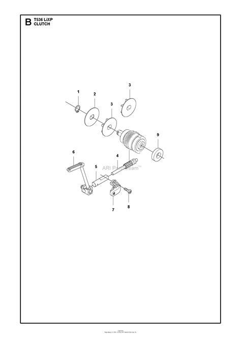 Husqvarna T536 LiXP Parts Diagram for CLUTCH