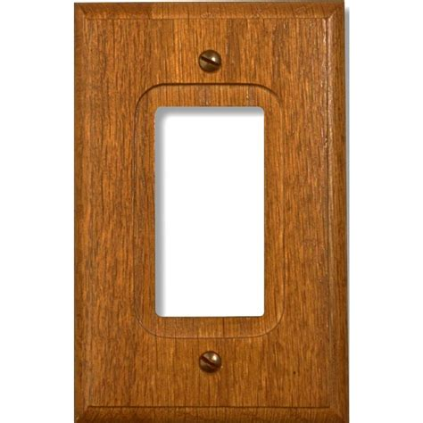 amerelle steel 1 decora wall plate brushed brass 154r