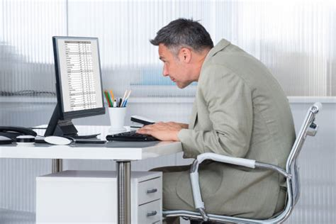 Bad Posture Pictures Images And Stock Photos Istock Computer Desk Posture