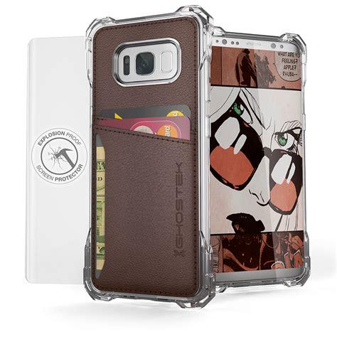 Samsung Galaxy S8 Hybrid Bumper Cover Armor Soft Tpu galaxy s8 wallet ghostek exec brown series slim