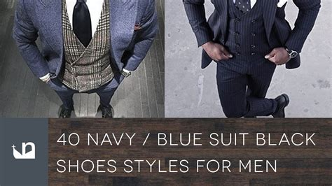 Navy Black 40 navy blue suit black shoes styles for
