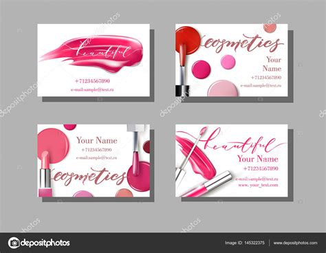 Free Card Templates Wiht Lip Stick by Makeup Artist Business Card Vector Template With Makeup