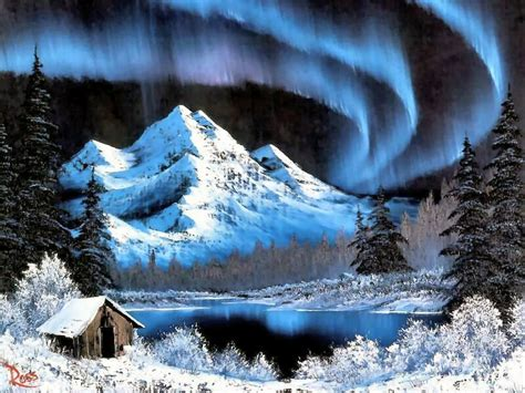 northern lights painting for sale northern lights bob ross charming winter