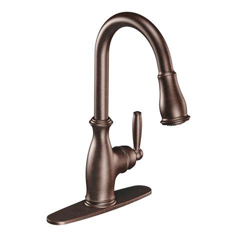 moen noell single handle pull down sprayer kitchen faucet moen bronze pull down faucet bronze moen pull down faucet