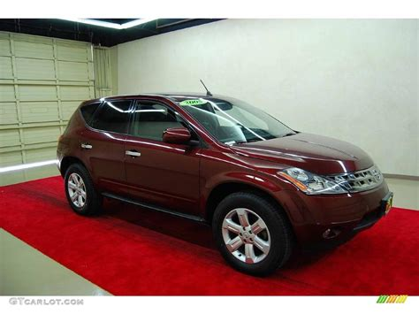 2005 merlot metallic nissan murano sl 12042408 gtcarlot car color galleries