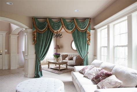 Drapes With Attached Valance Beautiful Living Room Curtains With Valance For Your