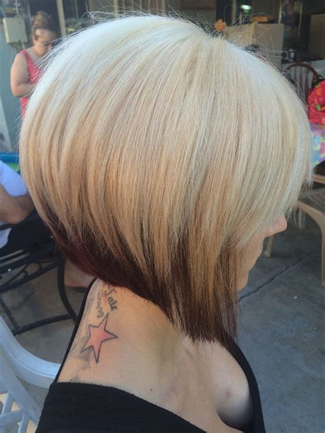 three toned hair styles a line bob two toned hair pinteres