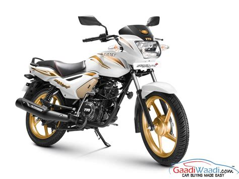 gold motorcycle tvs launches star city gold color edition for the festive