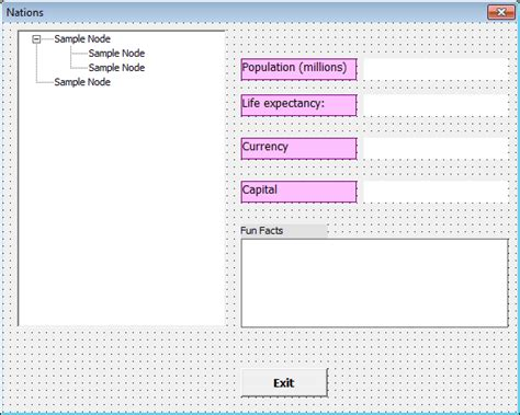form design html exles design the treeview user form