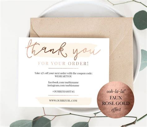 thank you packaging card template 15 business thank you cards editable psd png format