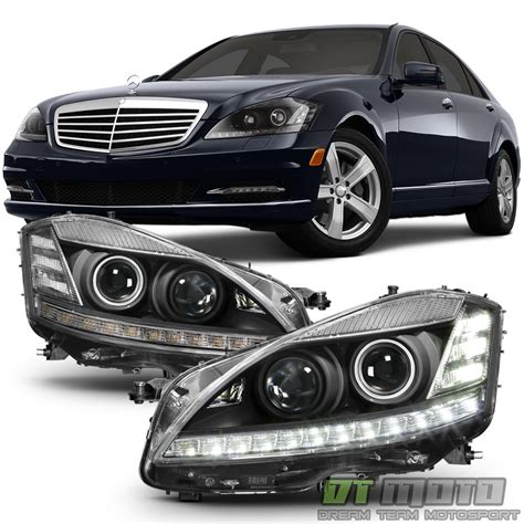 mercedes headlights at night facelift fit 2007 2009 benz w221 s550 s63 s class xenon