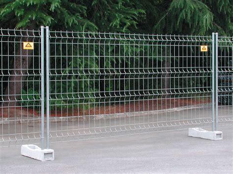 recinzioni mobili recinzione temporanea e mobile per il cantiere standard