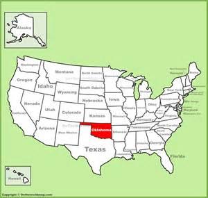 Map Us Oklahoma Images Us Oklahoma Map Of Oklahoma State - Oklahoma on a us map