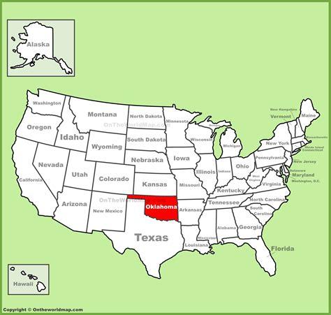 oklahoma map usa oklahoma location on the u s map