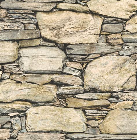 Tv Unit Designs 2016 by Fine Decor Stone Wall Wallpaper Fd40942 Beige Cut