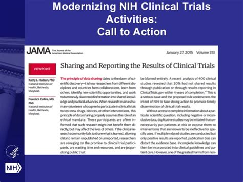 section 801 clinical trial secure data sharing and related matters an nih view