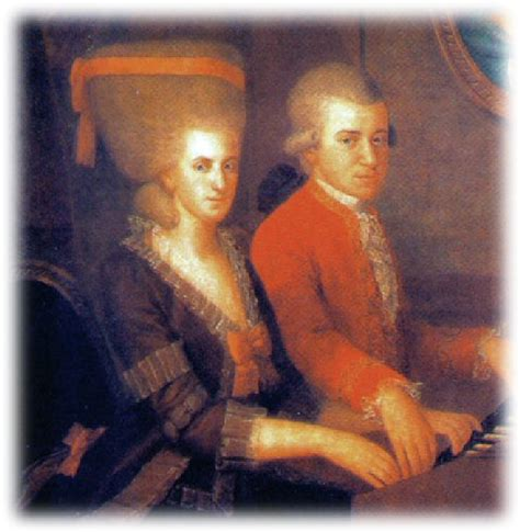 mozart biography wife image gallery mozart and his wife