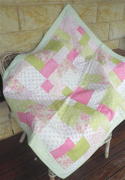 Patchwork Cot Quilts - baby patchwork cot quilt bedding baby bedding