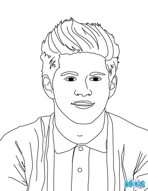 niall horan coloring pages hellokids com