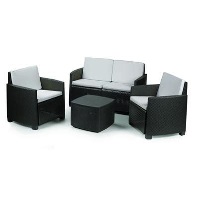 Etna Set Black progarden anthracite etna conversation set with grey