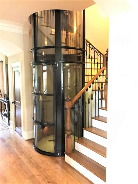 vacuum clear glass home elevators
