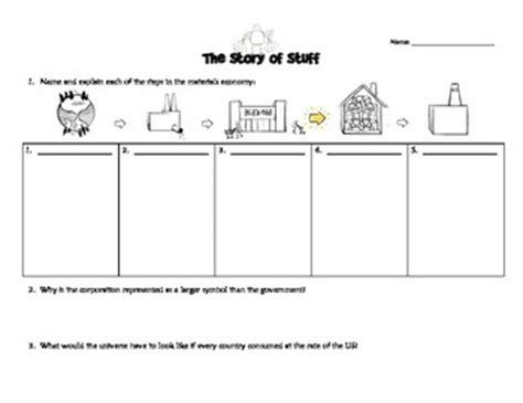 Story Of Stuff Worksheet Answers by Quot Story Of Stuff Quot Workshee By Ms G S Teaching Ideas