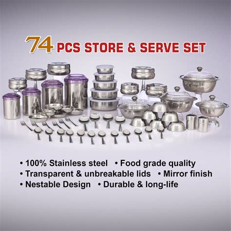 1set And Spoon Desert buy 74 pcs store serve set at best price in india on naaptol