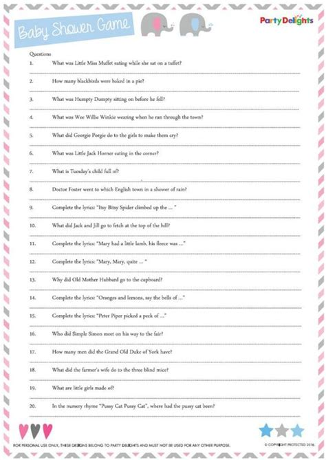 printable quiz sheets uk baby showers plays and the o jays on pinterest